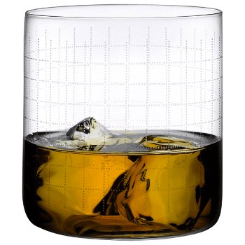 Finesse Grid Whisky Glass Set Of 4 By Nude At Lumens