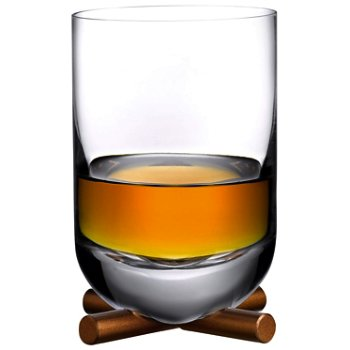 Camp Whisky Glass with Brass Base