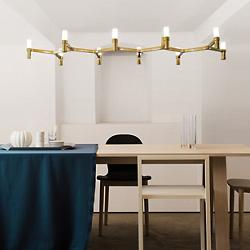 Crown Plana Linea Suspension (Plated Gold) - OPEN BOX RETURN