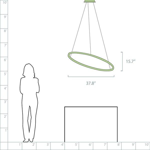 Ellisse LED Minor Pendant