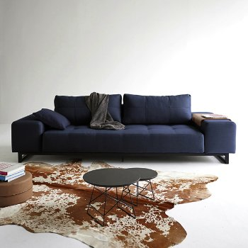 Shown in Grand Deluxe Excess Lounge Sofa, Mixed Dance Blue