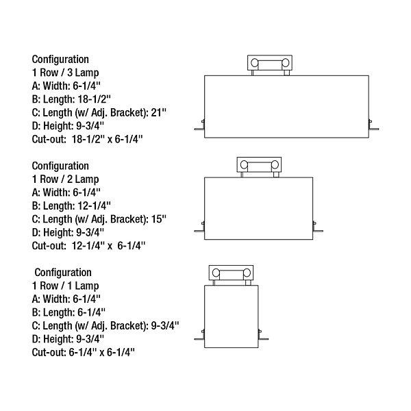 Trimless LED Housing for Multiple Lighting Systems