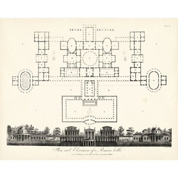 Plan & Elevation for a Roman Villa