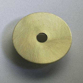 Shown in Satin Brass finish, Detail shot