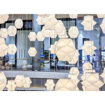 Shown in White, lit, in use