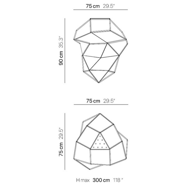 Fold Opale LED Pendant