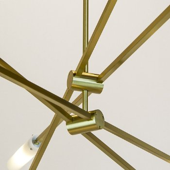 Shown in Brushed Brass