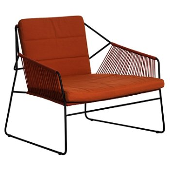 Shown in Chair Cayenne, Terra Cotta/Anthracite Powder-Coated Aluminum