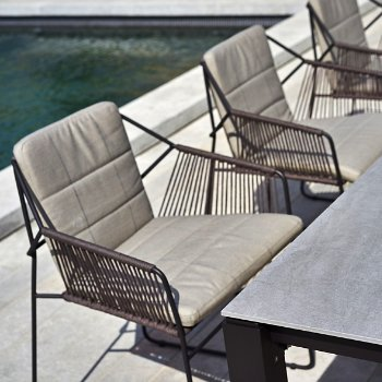 Shown in Lantern Slate, Taupe Rope/Anthracite Powder-Coated Aluminum