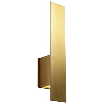 Shown lit in Aged Brass finish, with optional backplate