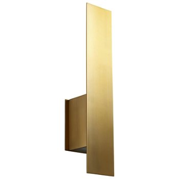 Shown unlit in Aged Brass finish, with optional backplate