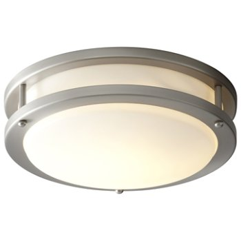 Shown lit in Satin Nickel finish, Small size
