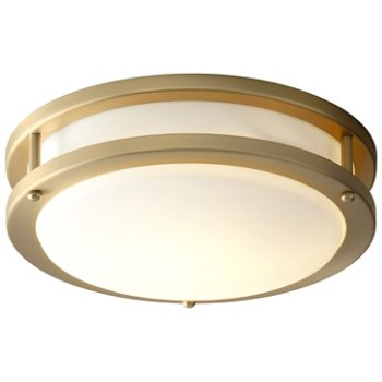 Shown lit in Aged Brass finish, Small size