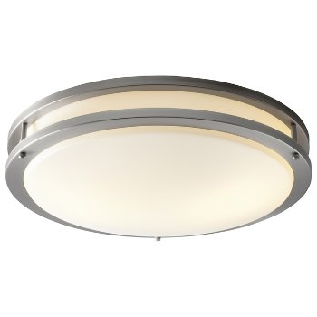 Shown lit in Satin Nickel finish, Large size