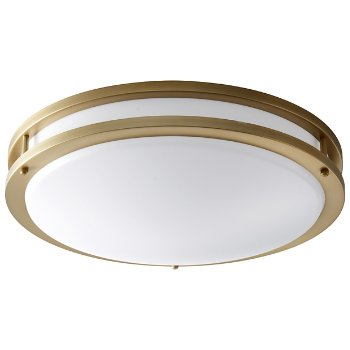 Shown unlit in Aged Brass finish, Large size