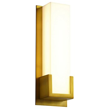 Shown lit in Aged Brass finish