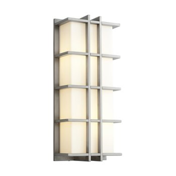 Shown in Satin Nickel finish with Large size, lit