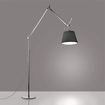 Shown in Black finish, Parchment shade, 12 inch size