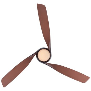 Shown in Copper Bronze with Tinted Opal glass Fan Body and Blade finish