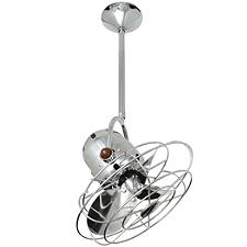 Bianca Direcional Ceiling Fan - Body Finish: Polished Chrome - Blade Color: Metal