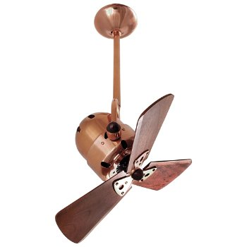 Shown in Wood Blades with Polished Copper finish