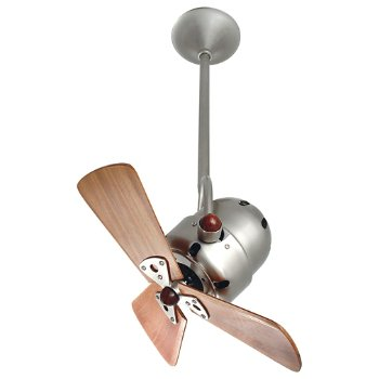 Shown in Wood Blades with Brushed Nickel finish