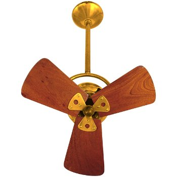 Shown in Ouro fan body finish, Solid Mahogany Wood blade