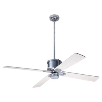 Shown in Whitewash fan blade finish with Galvanized fan body finish, No Light