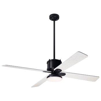 Shown in Whitewash fan blade finish with Dark Bronze fan body finish, LED
