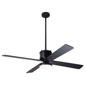 Shown in Black fan blade finish with Dark Bronze fan body finish, LED