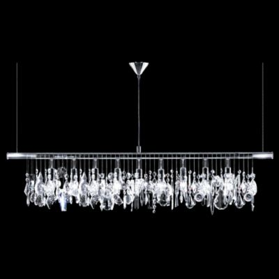 Broadway linear crystal chandelier by james r moder at lumens com