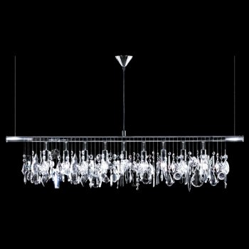 linear crystal chandelier. Broadway Linear Crystal Chandelier Lumens