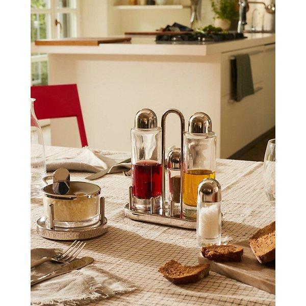 Ettore Sottsass Condiment Set (Oil, Vinegar, Salt & Pepper)