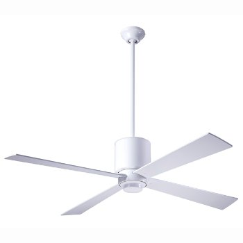 Shown in Gloss White finish with White blades, No Light