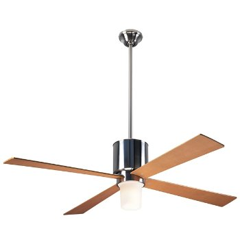 Shown in Brushed Nickel finish with Maple blades, No Light