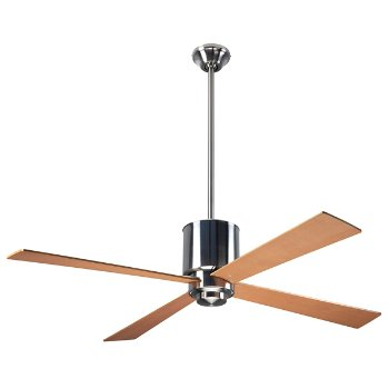 Shown in Brushed Nickel finish with Maple blades, LED Light