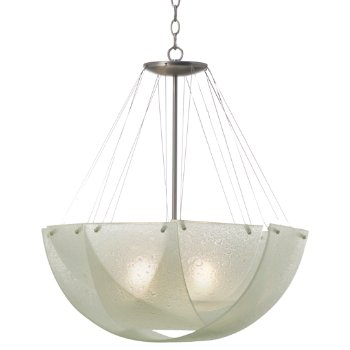 Shown in Bubble Glass with Satin Nickel finish