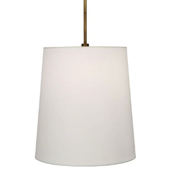 Shown in Aged Brass with White Fondine Fabric