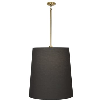 Shown in Polished Brass with Smoke Gray Fabric