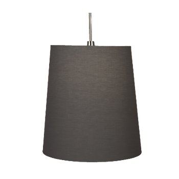 Shown in Polished Nickel with Smoke Gray Fabric finish