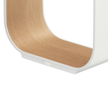 Shown in White with White Oak Veneer