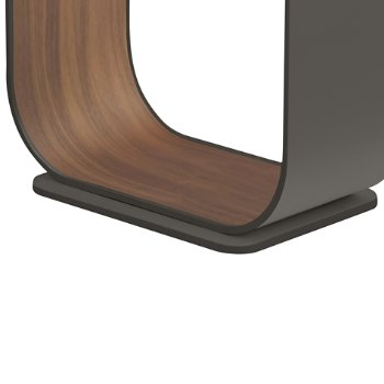 Shown in Graphite with Walnut Veneer