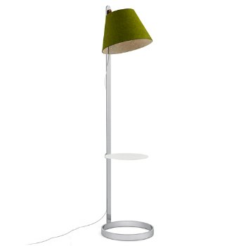 Shown in Moss, Chrome finish, with pedestal