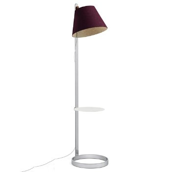Shown in Plum, Chrome finish, with pedestal