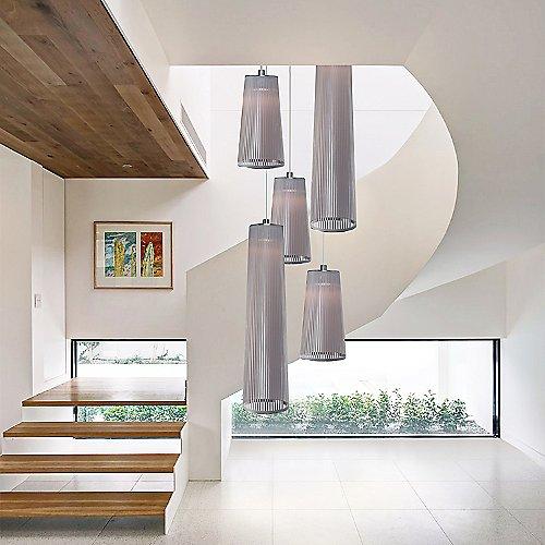 solis 5 mixed multi light pendant by pablo designs at lumens com