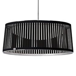 Solis LED Drum Pendant (Black/24 Inch) - OPEN BOX RETURN