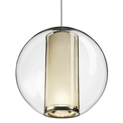 Bel Occhio Pendant (Clear with White) - OPEN BOX RETURN