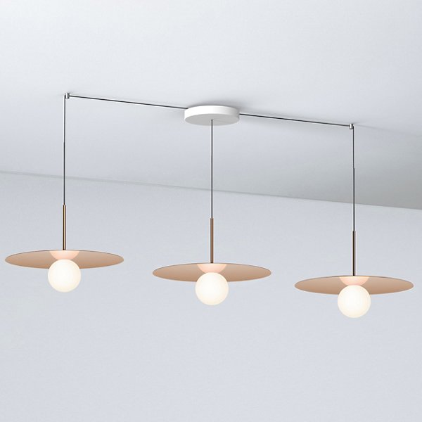 Bola Disc LED Multi-Light Pendant with Small Canopy