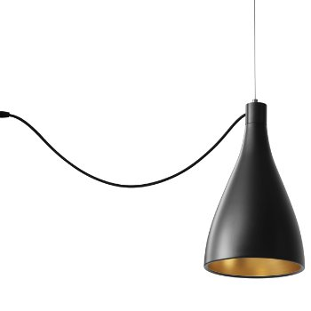 Shown in Black with Brass finish, Narrow