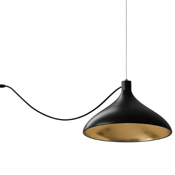 Shown in Black with Brass finish, Wide